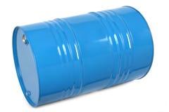Blue metal barrel Stock Photography