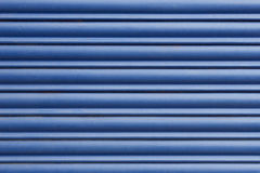 Blue metal blind Stock Photo