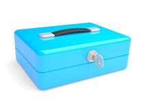 Blue metal box Royalty Free Stock Image
