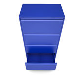 Blue metal cabinet. Isolated render on a white background Stock Images