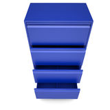 Blue metal cabinet. Isolated render on a white background Stock Image