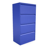 Blue metal cabinet. Isolated render on a white background Royalty Free Stock Images