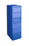 Blue metal cabinet Stock Photography