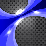 Blue Metal Design Royalty Free Stock Photo
