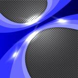 Blue Metal Design Royalty Free Stock Photo