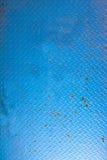 Blue metal door background Royalty Free Stock Photos