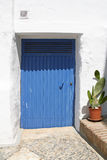 Blue metal door Royalty Free Stock Photography