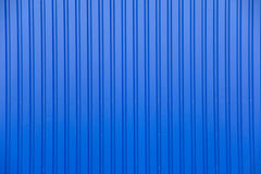 Blue metal facade. Of an industrial building Stock Image