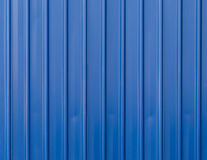 Blue metal fence background Royalty Free Stock Images