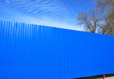 Blue Metal Fence Royalty Free Stock Photography