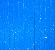 A blue metal fence with white spots Stock Photos