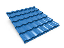 Blue metal foof tile Royalty Free Stock Photos