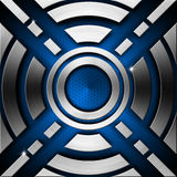 Blue and Metal Geometric Background Stock Photo