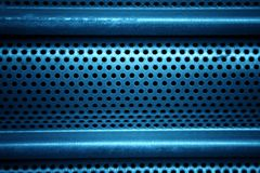 Blue metal grid Stock Images