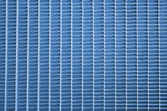 Blue metal grid Royalty Free Stock Photography
