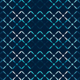 Blue metal grid abstract seamless pattern Stock Photos