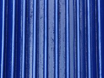 Blue metal industrial background Stock Image