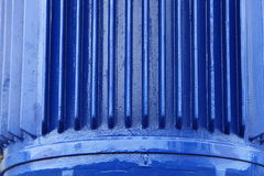 Blue metal industrial background Stock Images