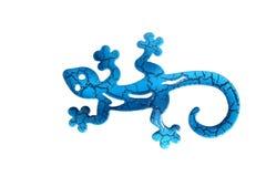 Blue metal lizard Stock Image