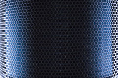 Blue Metal Mesh Stock Image