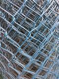 Blue metal net. Texture and background Royalty Free Stock Photography