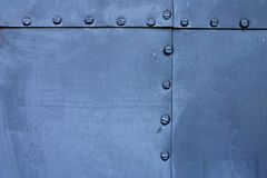 Blue metal plate Stock Photo