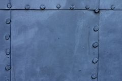Blue metal plate Royalty Free Stock Photography
