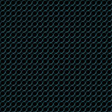 Blue metal rings pattern. A blue metal rings pattern on black stock illustration