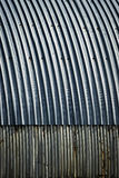 Blue metal roof for arc the hangar. Abstract background or texture Blue metal roof for arc the hangar Royalty Free Stock Photos