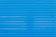 Blue metal shutter door Stock Photography