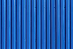 Blue metal siding wall texture Stock Photos