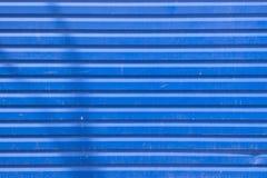 Blue metal siding wall texture Royalty Free Stock Photos