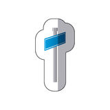 Blue metal sign post icon Royalty Free Stock Photos