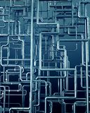 Blue metal steel pipe background Stock Photos
