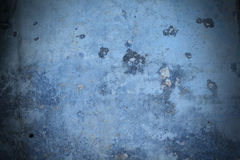 Blue metal texture background. With stains Stock Photography