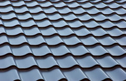 Blue  metal tile roof. Background Stock Image