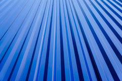 Blue metal wall Royalty Free Stock Image