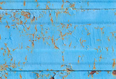 Blue metal wall background texture Stock Photos