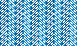 Blue metalic fern pattern seamless. Abstract fern leaves seamless zigzag background pattern Stock Image