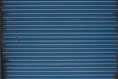 Blue metall door Royalty Free Stock Photography