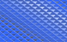 Blue metallic abstract background of triangles. Geometric repeating pattern with 3D effect for fabric and surface design. backdrop, wall paper, background Stock Photo