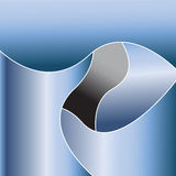 Blue Metallic Abstract. Blue metallic shapes are featured in an abstract background illustration Stock Photography
