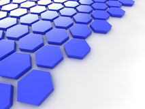 Blue metallic background with hexagons and place Royalty Free Stock Photos