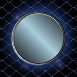 Blue metallic border over black cage Stock Photos