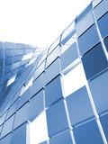 Blue metallic cubes Stock Photography