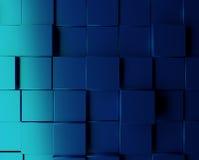 Blue metallic cubes background Stock Images
