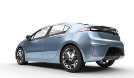 Blue Metallic Electric Car Stock Image