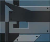 Blue Metallic Elements Background Stock Images
