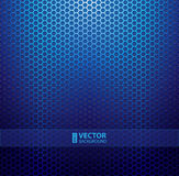 Blue metallic grid background Royalty Free Stock Photography