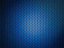 Blue metallic grid or grille background Royalty Free Stock Photography